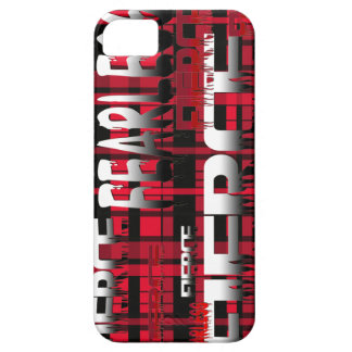 38.Red and Black Plaid Fearless Fierce iPhone SE/5/5s Case