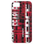 38.Red y feroz audaz de la tela escocesa negra iPhone 5 Protectores