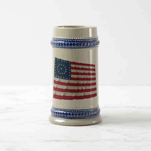 38-star flag, Boxed Medallion pattern Beer Stein
