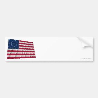 38-star flag, Boxed Medallion pattern Bumper Sticker