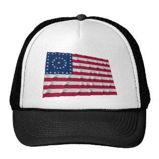38-star flag, Boxed Medallion pattern Trucker Hat