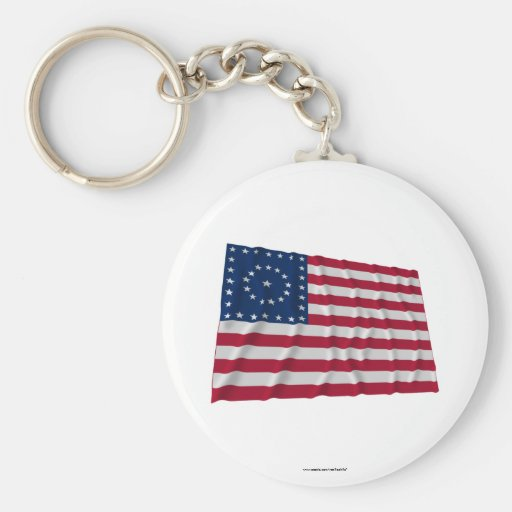 38-star flag, Boxed Medallion pattern Key Chain
