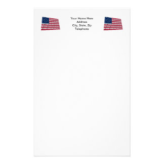 38-star flag, Boxed Medallion pattern Personalized Stationery