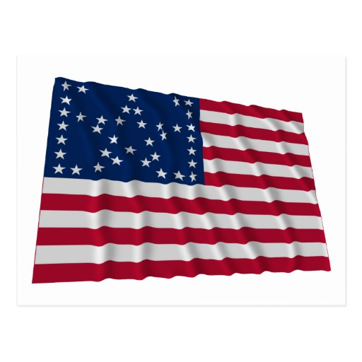 38-star flag, Bracketed Great Star pattern Post Card