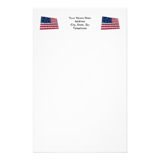 38-star flag, Bracketed Great Star pattern Stationery