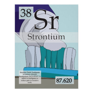 38. Strontium (Sr) Periodic Table of the Elements Poster