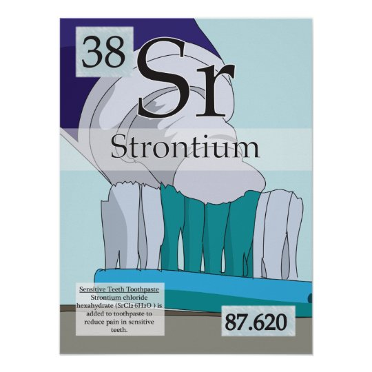 38 Strontium Sr Periodic Table Of The Elements Poster Zazzle