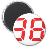 38 thirty-eight red alarm clock digital number fridge magnets