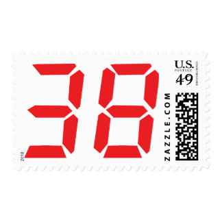 38 treinta y ocho números digitales del franqueo