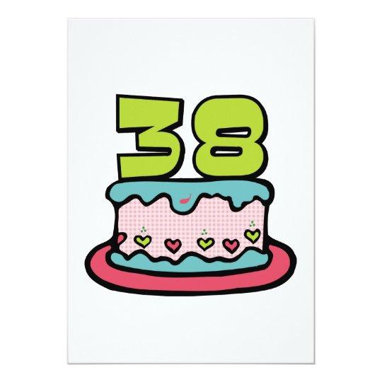 38 Year Old Birthday Cake Card