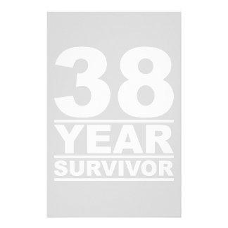 38 year survivor stationery