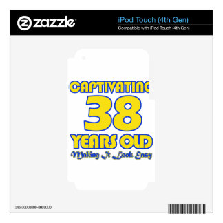 38 YEARS OLD BIRTHDAY DESIGNS DECALS FOR iPod TOUCH 4G
