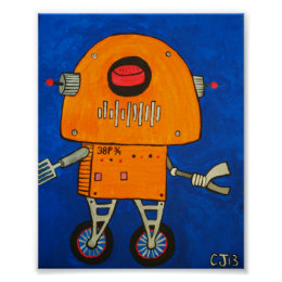 38p 3/4  .....coolest robot in the galxy poster