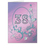 38th Birthday card with diamond stars