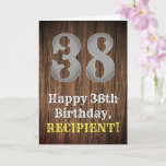 [ Thumbnail: 38th Birthday: Country Western Inspired Look, Name Card ]