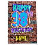 [ Thumbnail: 38th Birthday: Fun, Urban Graffiti Inspired Look Gift Bag ]