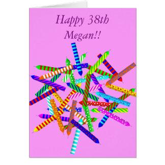 38th Birthday Gifts Card