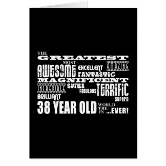 38th Birthday Party Greatest Thirty Eight Year Old Stationery Note Card