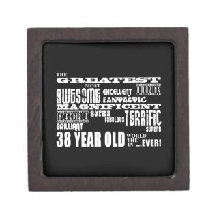 38th Birthday Party Greatest Thirty Eight Year Old Premium Jewelry Boxes