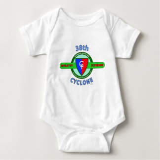 """38TH INFANTRY DIVISION """"CYCLONE"""" BABY BODYSUIT"""
