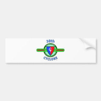 """38TH INFANTRY DIVISION """"CYCLONE"""" BUMPER STICKER"""