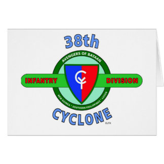 """38TH INFANTRY DIVISION """"CYCLONE"""" CARD"""