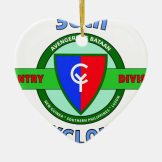 """38TH INFANTRY DIVISION """"CYCLONE"""" CERAMIC ORNAMENT"""
