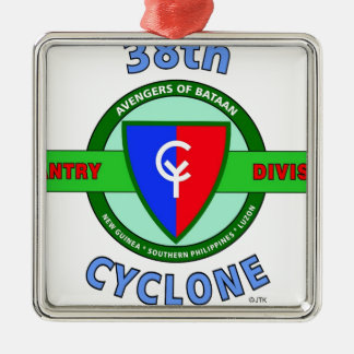 """38TH INFANTRY DIVISION """"CYCLONE"""" METAL ORNAMENT"""