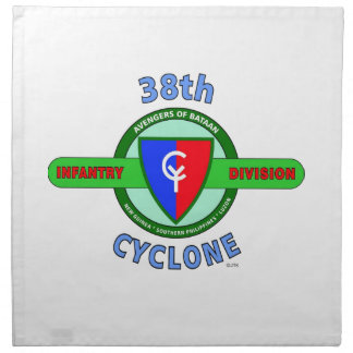"""38TH INFANTRY DIVISION """"CYCLONE"""" NAPKIN"""