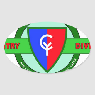 """38TH INFANTRY DIVISION """"CYCLONE"""" OVAL STICKER"""