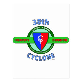 """38TH INFANTRY DIVISION """"CYCLONE"""" POSTCARD"""