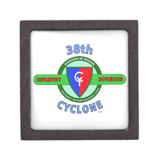 """38TH INFANTRY DIVISION """"CYCLONE"""" PREMIUM JEWELRY BOXES"""