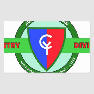 """38TH INFANTRY DIVISION """"CYCLONE"""" RECTANGULAR STICKER"""