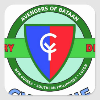 """38TH INFANTRY DIVISION """"CYCLONE"""" SQUARE STICKER"""