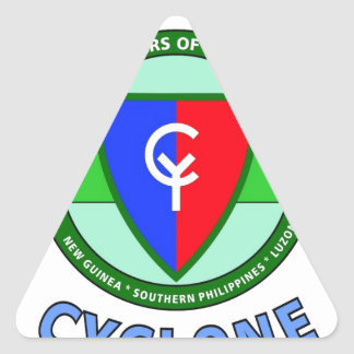 """38TH INFANTRY DIVISION """"CYCLONE"""" TRIANGLE STICKER"""