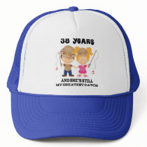38th Wedding Anniversary Gift For Him Trucker Hat