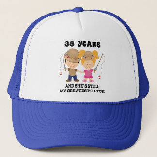 38th Wedding Anniversary Gift For Him Trucker Hat