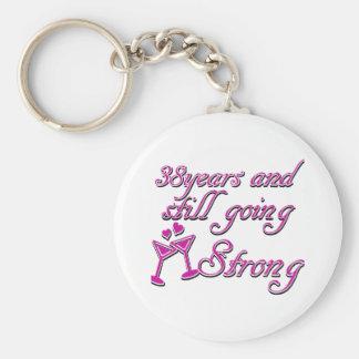 38th wedding anniversary keychains
