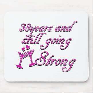 38th wedding anniversary mousepad