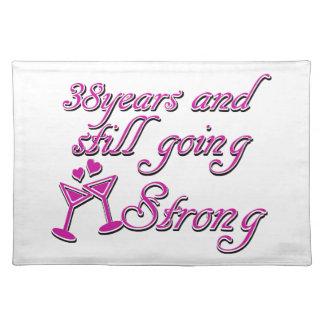 38th wedding anniversary place mats