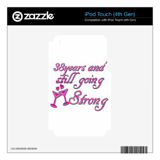 38th wedding anniversary iPod touch 4G decal