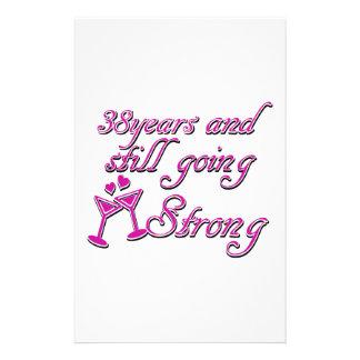 38th wedding anniversary stationery paper