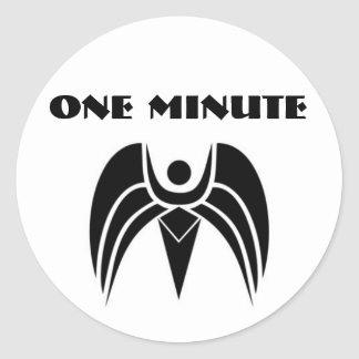 390897_2392297_huge, ONE MINUTE Classic Round Sticker
