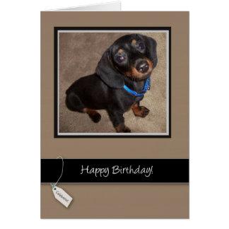 3913 Happy Birthday, Dog, Dachshund Greeting Card