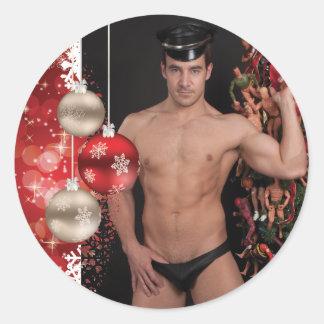 39273A-RA Chris Rockway Christmas Classic Round Sticker
