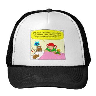 392 lay me down to sleep cartoon trucker hat