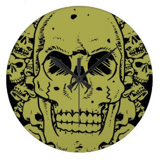 392 Skulls Group Large Clock