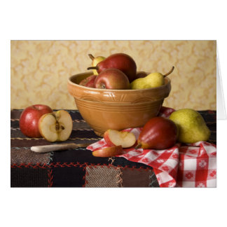 3933 Bowl of Apples & Pears Still Life Card