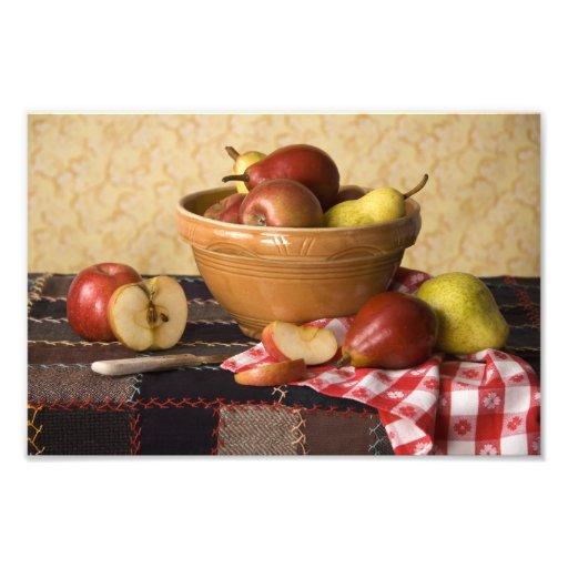 3933 Bowl of Apples & Pears Still Life Photo Print