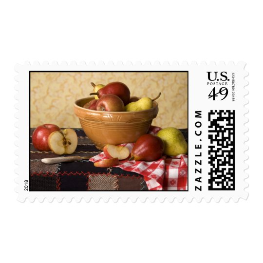 3933 Bowl of Apples & Pears Still Life Postage